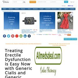 Treating Erectile Dysfunction is Easy Now with Generic Cialis and Generic Viagra