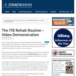 ITB Rehab Routine – Video Demonstration
