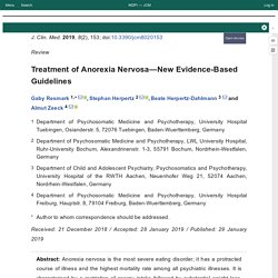 Treatment of Anorexia Nervosa—New Evidence-Based Guidelines