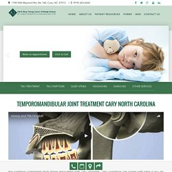 TMJ Treatment Cary North Carolina by Dr. Ferzli at Smiles of Cary
