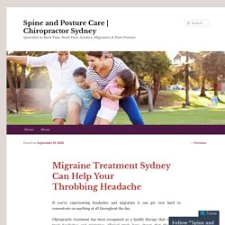 Migraine Treatment Sydney Can Help Your Throbbing Headache