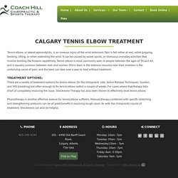 Tennis Elbow Treatment Calary