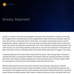 Anxiety: Causes, Symptoms & Treatment @ Philosophy Holistic