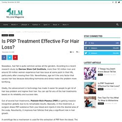 Is PRP Treatment Effective For Hair Loss?