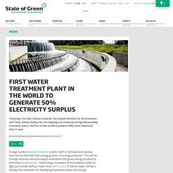 First Water Treatment Plant in the World to Generate 50% Electricity Surplus