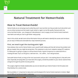 bleeding hemorrhoids treatment