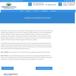 Laser Treatment for Piles in Miyapur, Hyderabad - Dr Ramesh Pitchika