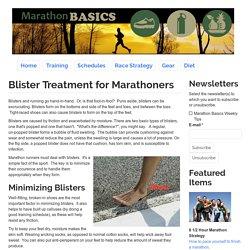 Blister Treatment for Marathoners
