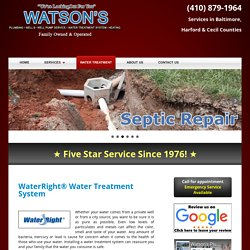 Water Treatment Service Fallston MD