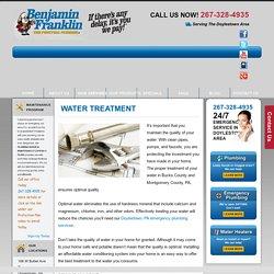 Water Treatment Montgomery County PA