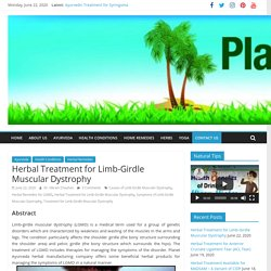 Herbal Treatment for Limb-Girdle Muscular Dystrophy
