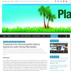 Treatment for Neuromyelitis Optica Spectrum with Herbal Remedies
