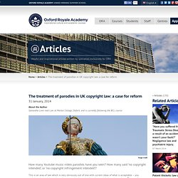 The treatment of parodies in UK copyright law: a case for reform