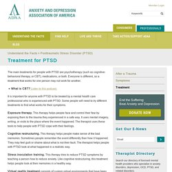Treatment for PTSD