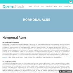 Hormonal Acne Treatment