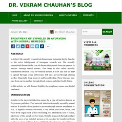 Treatment of Syphilis in Ayurveda with Herbal Remedies