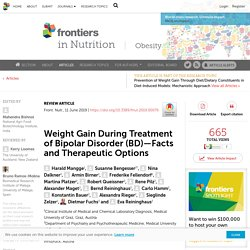 Weight Gain During Treatment of Bipolar Disorder (BD)—Facts and Therapeutic Options