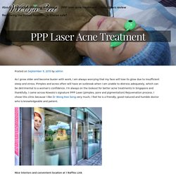 PPP Laser Acne Treatment - WelynCat - reduce belly fat, face slimming and beauty tips