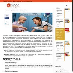 Leukemia: Causes, Symptoms and Treatments - AbbloodAbblood
