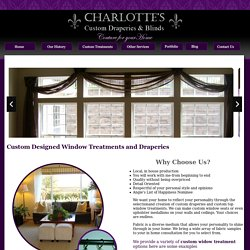 Interior Decorator & Window Treatments in St Louis