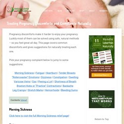 Natural Treatments for Pregnancy Discomforts