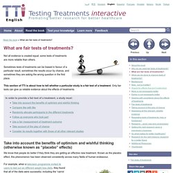 What are fair tests of treatments? - Testing Treatments interactive » Testing Treatments interactive