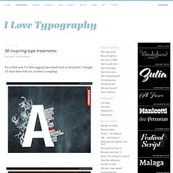 30 inspiring type treatments