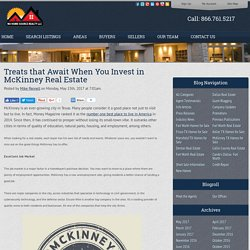 Treats that Await When You Invest in McKinney Real Estate