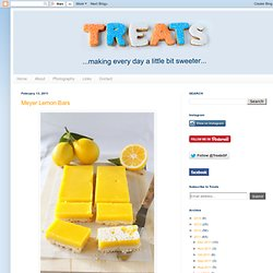 Treats: Meyer Lemon Bars