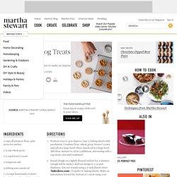 Paw-Print Dog Treats, Recipe from Martha Stewart Living, March 2010