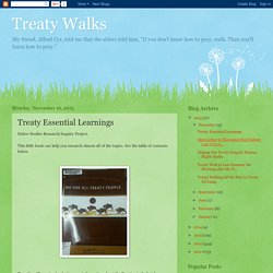 Treaty Walks: Treaty Essential Learnings