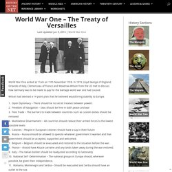 World War One - The Treaty of Versailles - History on the Net