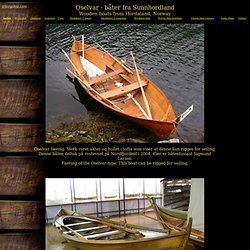 Oselvar - trebåter fra Hordaland - Vikingskip og norske trebåter - Viking ships