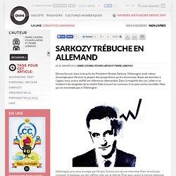 Sarkozy trébuche en allemand