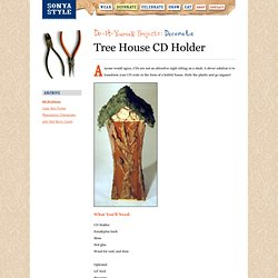 Tree House CD Holder Dollhouse
