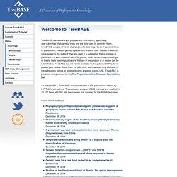 TreeBASE Web