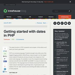 Getting started with dates in PHP