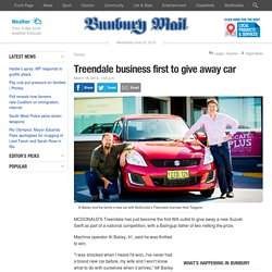 Treendale business first to give away car