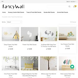 Trees & Floral Wall Decals