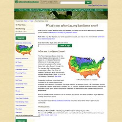 Hardiness Zone Lookup at arborday