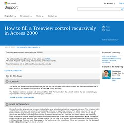 How to fill a Treeview control recursively in Access 2000