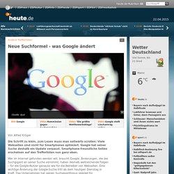 Andere Trefferlisten: Neue Suchformel - was Google ändert
