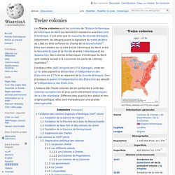 Treize colonies