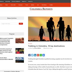 Trekking in Colombia, 10 top destinations