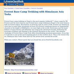 Everest Base Camp Trekking with Himalayan Asia Treks Plattsburgh business