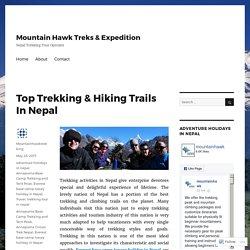 Top Trekking & Hiking Trails In Nepal
