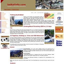 Trekking South-Baikal