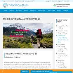 Trekking to Nepal After Covid 19 - Trekking Guide Adventure Team