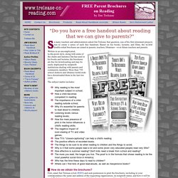 Trelease Brochures on Reading