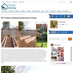 DIY Trellis & Raised Garden Box Combo